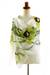 Hand painted silk shawl, 'Green Orchid' - Handpainted Silk Shawl (image 2e) thumbail