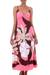 Maxi dress, 'Pink Floral Classic' - Floral Hand Painted Maxi Dress (image 2a) thumbail