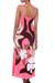 Maxi dress, 'Pink Floral Classic' - Floral Hand Painted Maxi Dress (image 2b) thumbail