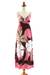 Maxi dress, 'Pink Floral Classic' - Floral Hand Painted Maxi Dress (image 2c) thumbail