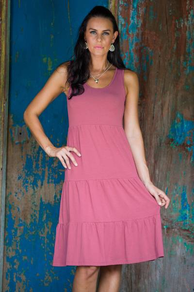 Jersey knit sundress, Rose Ruffles
