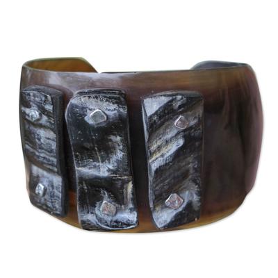 Indonesian Modern Horn Cuff Bracelet