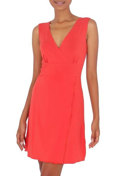 Jersey knit dress, 'Sumatra in Orange Chic' - Jersey Knit Dress