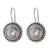 Cultured pearl drop earrings, 'Moon Halo' - Pearl and Silver Drop Earrings (image 2a) thumbail