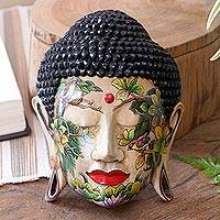 Wood mask, 'Natural Harmony of Buddha'