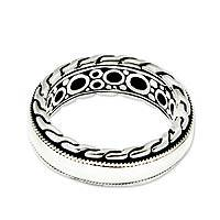 Men's sterling silver ring, 'Dragon Soul' - Hand Crafted Men's Sterling Silver Band Ring