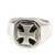 Men's sterling silver signet ring, 'Maltese Cross' - Men's Handcrafted Sterling Silver Signet Ring (image 2b) thumbail