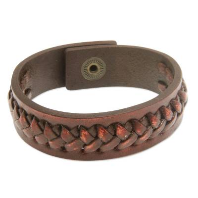 Artisan Crafted Indonesian Leather Bracelet
