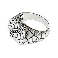 Men's sterling silver ring, 'Cobblestones' - Men's sterling silver ring