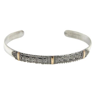 Gold accent cuff bracelet