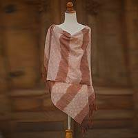 Cotton batik shawl, 'Lempung Wangi' - Cotton batik shawl