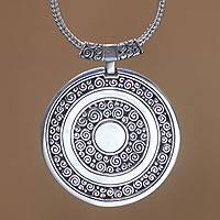 Sterling silver pendant necklace, 'Timeless Treasure' - Unique Sterling Silver Pendant Necklace