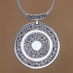 Unique Sterling Silver Pendant Necklace, 'Timeless Treasure'
