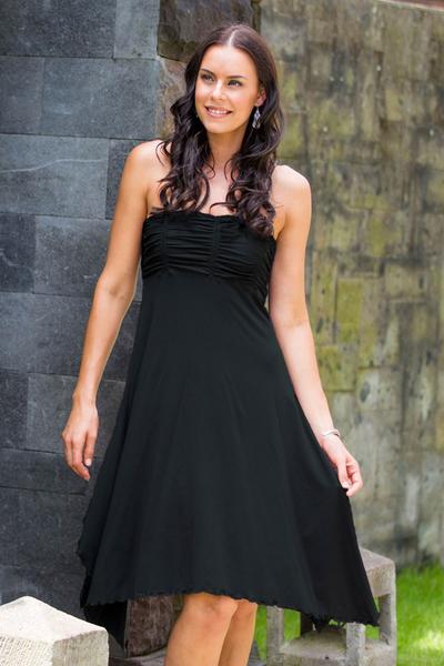 Jersey knit dress, 'Black Java Chic' - Jersey knit dress