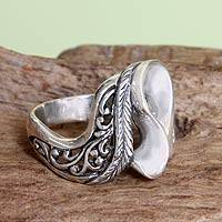 Sterling silver cocktail ring, 'Lady Wanderer'
