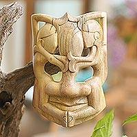 Wood mask, 'Three Best Friends'