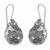 Amethyst flower earrings, 'Butterflies and Frangipani' - Floral Sterling Silver Dangle Earrings thumbail