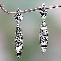 Sterling silver dangle earrings, 'Regency'