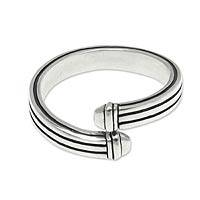 Men's sterling silver ring, 'In My Arms'