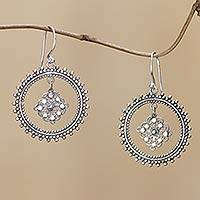 Sterling silver dangle earrings, 'Mystic Aura' - Handmade Silver Dangle Earrings Sterling 925