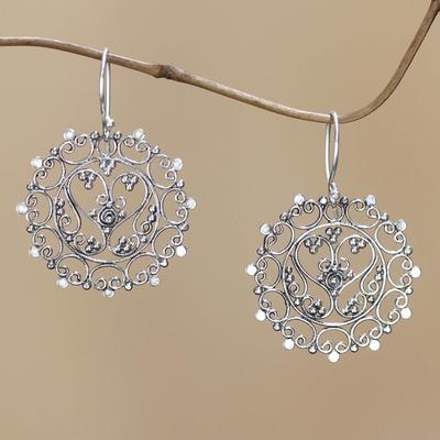 Novica Sterling silver dangle earrings, Butterfly Vignette