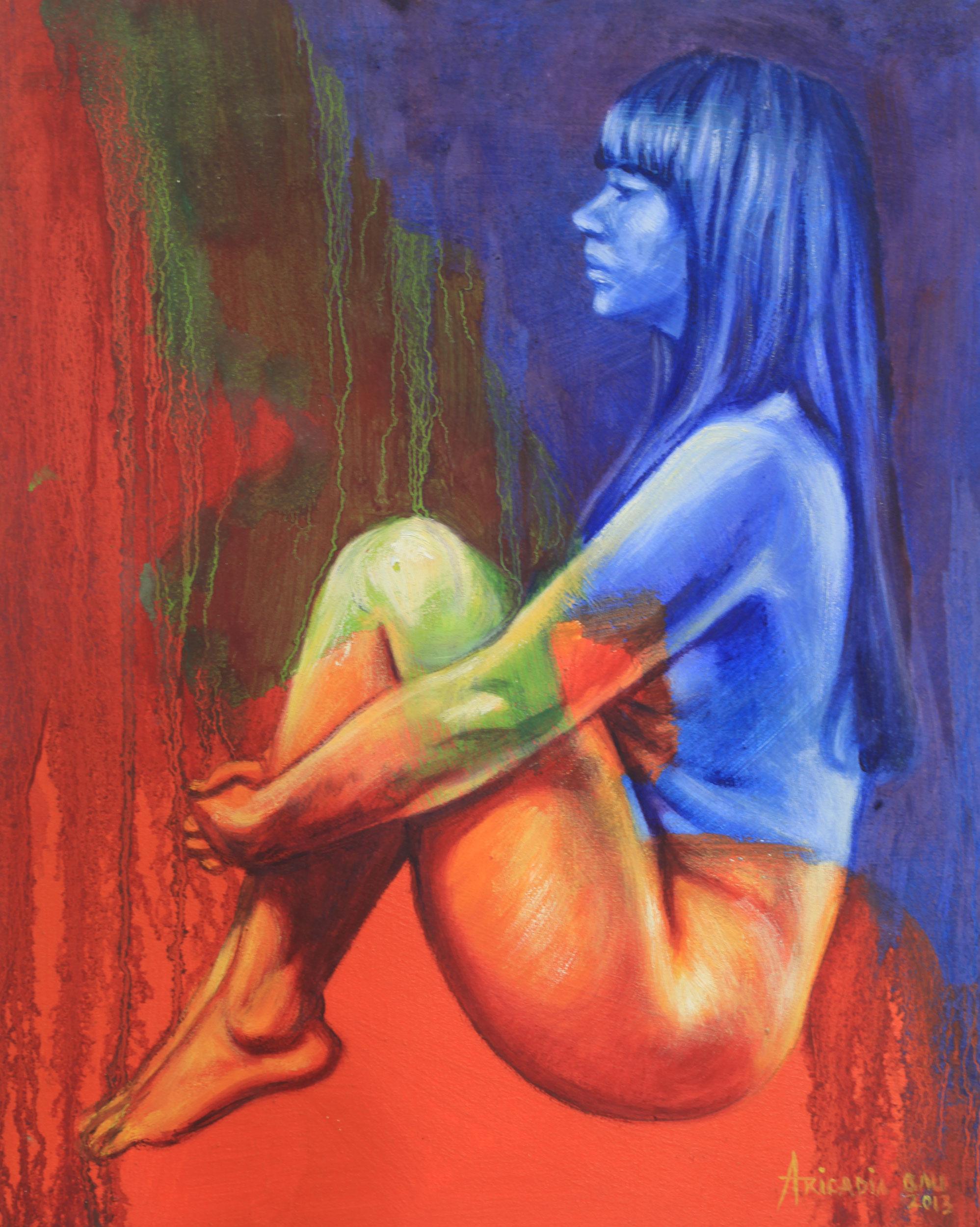 Art fine nude painting-7765