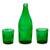 Recycled glass carafe and glasses, 'Karma Effect' (set for 2) - Recycled glass carafe and glasses thumbail