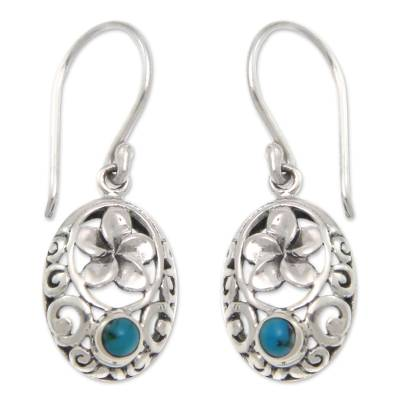 Artisan Crafted Turquoise Flower Earrings