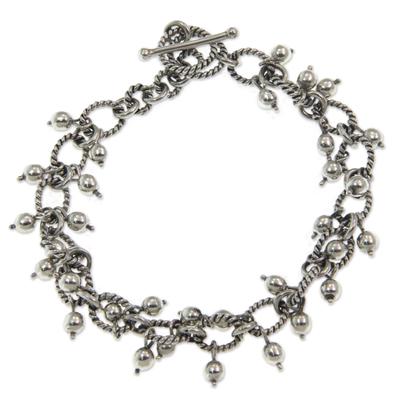 Handmade Balinese Silver Charm Bracelet