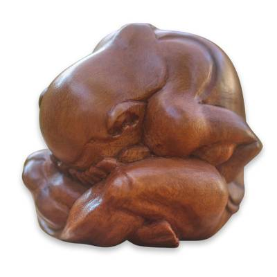 hand Carved Yoga Sculpture