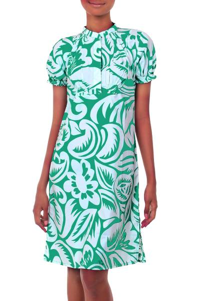 Silk Screened Cotton Dress