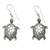 Sterling silver dangle earrings, 'Turtle of the Sea' - Handcrafted Silver Turtle Earrings thumbail