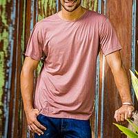 Men's cotton founder's t-shirt, 'Brown Kuta Breeze' - Men's Brown Cotton Founder's Jersey Tee