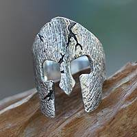 Men's sterling silver ring, 'Gladiator'