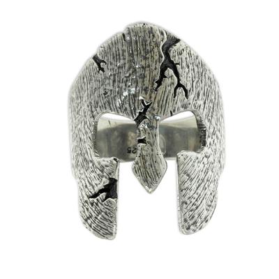 Men's sterling silver ring, 'Gladiator' - Original Sterling Silver Band Ring for Men