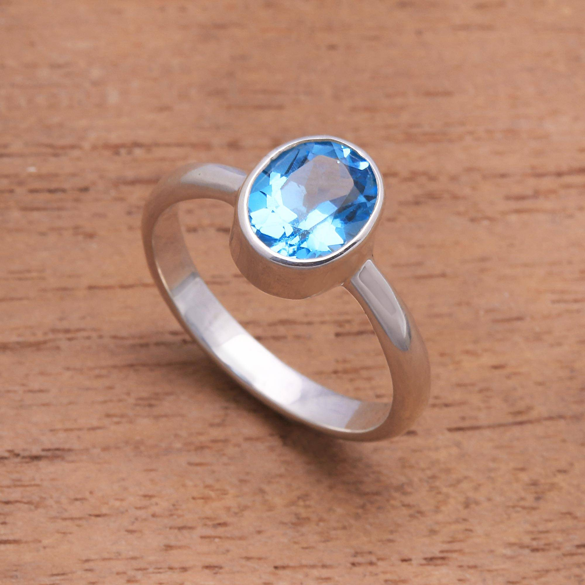 London Blue Topaz and Sterling Silver Ring - True Emotion | NOVICA