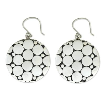 Sterling silver dangle earrings, 'Bubbles' - Fair Trade Silver Earrings