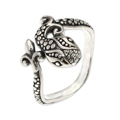 Sterling silver cocktail ring, 'Baby Cobra' - Fair Trade Sterling Silver Ring