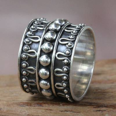 silver female rings melted