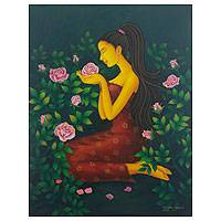 'Lovely Rose Flower' - Romantic Javanese Portrait