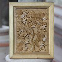 Wood wall panel, 'Nagasari Tree'
