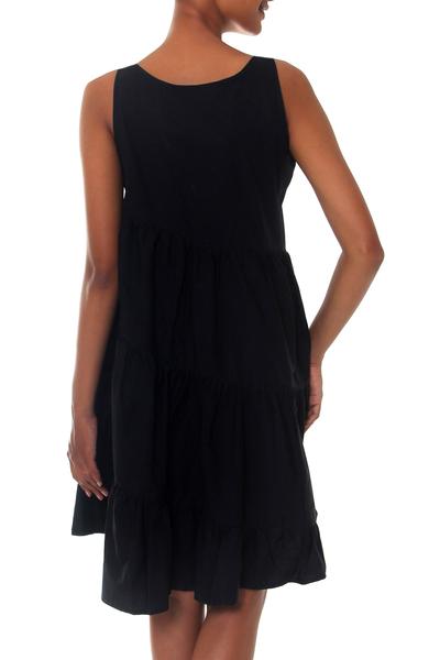 665fadeeac8f Balinese Black Cotton Knee Length Sundress