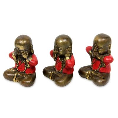 Bronze Buddha Figurines from Java (set of 3)