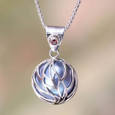 Pearl Silver Pendant Mabe Pearl and Sterling Silver Pendant with a 45cm sterling silver chain