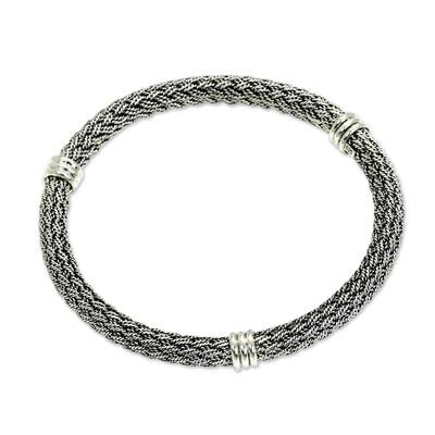 Balinese Braided Sterling Silver Bangle