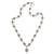 Sterling silver link necklace, 'Fleur de Lis' - Balinese Silver Link Necklace for Women (image 2a) thumbail