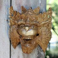 Wood mask, 'Monkey King Subali' - Balinese Mythic Monkey Mask