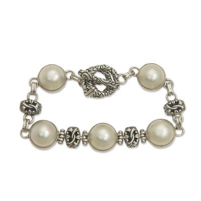 Cultured Mabe Pearl Link Bracelet