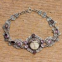 Amethyst and garnet link bracelet, 'Sleeping Princess'