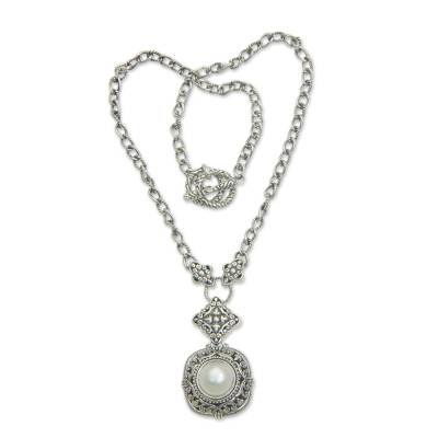 Balinese Pearl and Sterling Silver Choker